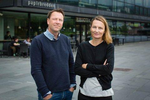 NYTT MAGASIN: Knut Erik Friis og Karianne Braathen lanserer et nytt nettmagasin for drammensregionen i disse dager.