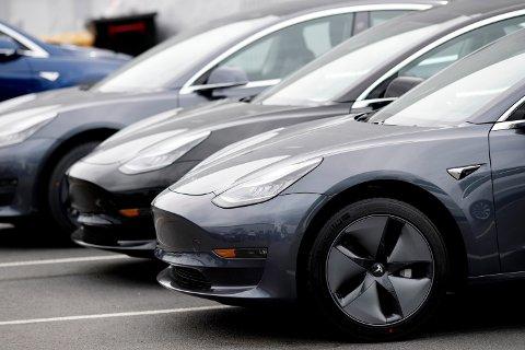 Så langt i år er det registrert vel 10.500 av Teslas Model 3 her i landet.