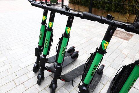 BORTE VEKK: Fram til søndag kommer ikke utleie-elsparkesyklene til Zvipp til å være tilgjengelige i Drammen.