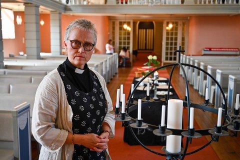 Fungerende prost Anne-Jorun Bakken i Haug menighet.