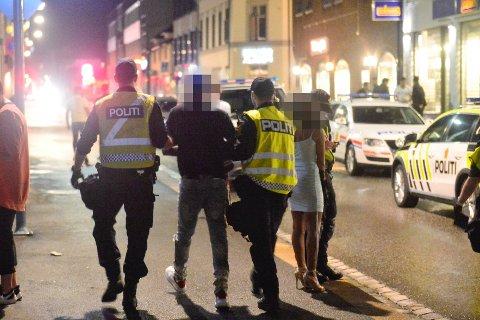 Politiet hadde god kontroll på festen i Engene i natt.