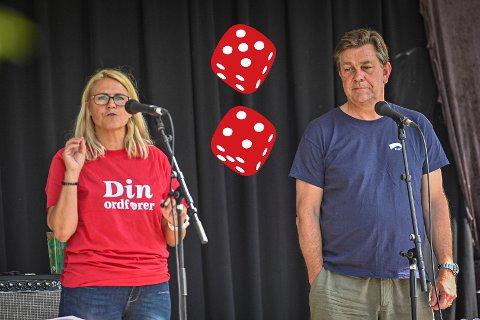 DUELL: Monica Myrvold Berg og Fredrik A. Haaning barket sammen på Plenen. En av dem blir etter alt å dømme ordfører i Nye Drammen.