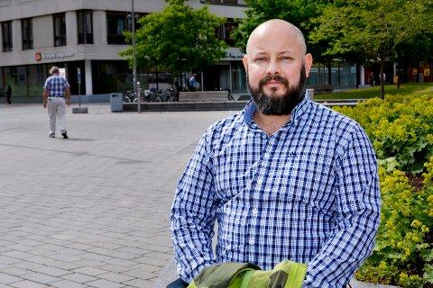 """REAGERER: Anders K. Lunde, andrekandidat på listen til """"Nei til bomring"""" i Drammen."""