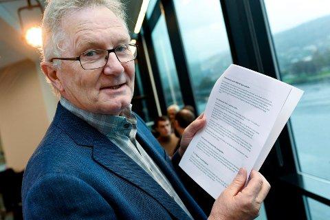 FORNØYD: Rune Kjeldsen i SV var fornøyd med sitt partis gjennomslag i den politiske plattformen.