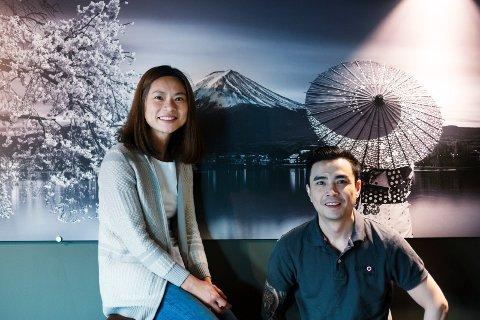 GOD START: Søsknene Helena Phan (40) og Thach Hoang Phan (35) åpnet Nippon Sushi  Nedre Storgate på Bragernes i desember 2019.