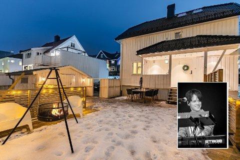 MÅ LEIE I MELLOMTIDA: Kent Sundberg, kjent fra Donkeyboy, og samboeren Malin Nygård Gjerde, selger huset sitt på Danvik. Etter salget skal familien på fire leie før deres nye hus står ferdigbygd.