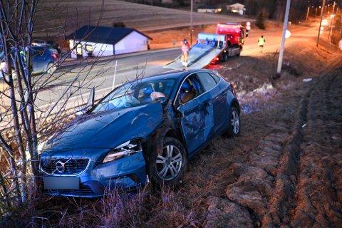 For andre dag på rad kjørte en bil av veien på Gamle Sørlandske.