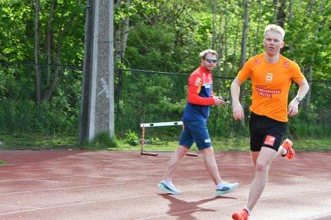 Martin Kirkeberg Mørk er et råskinn både i langrennssporet og på løpebanen. Her er han avbildet under en løpetest med ski-landslaget ved Sognsvann tidligere i år.