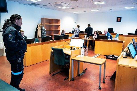 DØMT IGJEN: Mannen som her i Drammen tingrett ble dømt til ti og et halvt års forvaring, har i lagmannsretten fått redusert straffen.