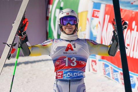 Til topps: Luca Braathen fra Hokksund..