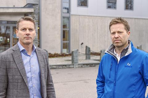 Styreleder Peter Kvisgaard og daglig leder Anders Høiback.