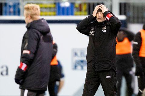 FORTVILET: Vegard Hansen var skuffet og fortvilet etter 0-1-tapet for Kristiansund søndag. Det ser mørkere og mørkere ut for MIF med tanke på å holde seg i Eliteserien nå...