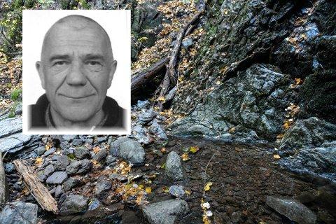 BLE FUNNET DØD: Sørelv-mannen. Adam Filipiuk (innfelt), bar preg av å ha ligget en stund da han ble funnet i Sørelv-juvet i fjor sommer.
