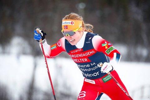 Helene Marie Fossesholm gikk under et sekund saktere enn vinneren på jaktstarten i Ruka i dag.
