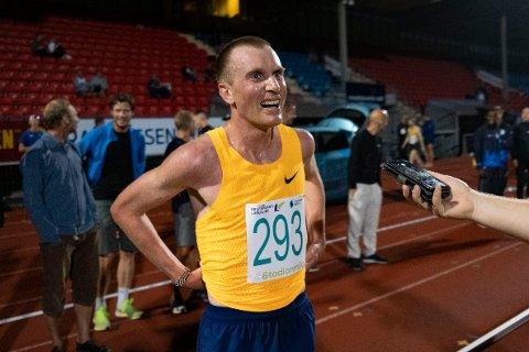 VAR I DRAMMEN: Sondre Nordstad Moen løp på Marienlyst sist uke.