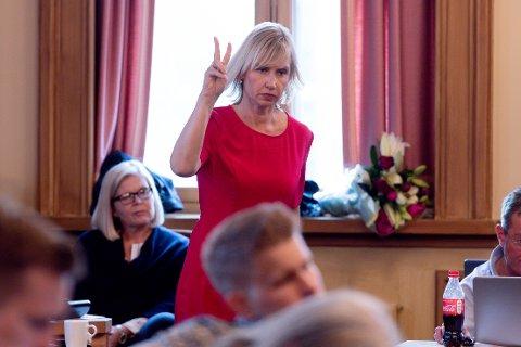 TRIST: Frps Hilde Hovengen var oppgitt over sine politikerkollegaer i teknisk hovedutvalgsmøtet onsdag kveld.  (Arkivbilde. Møtet var digitalt)