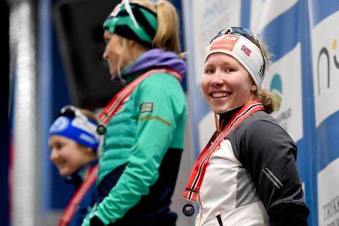 Kun Therese Johaug og Ingvild Flugstad Østberg var bedre enn Helene Fossesholm (18, til høyre) under 15 kilometer klassisk på Konnerud. Nå er Fossesholm tatt ut til v-cupen.