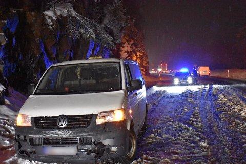 Glatte veier var trolig årsaken til ulykken i Sætre tirsdag kveld.