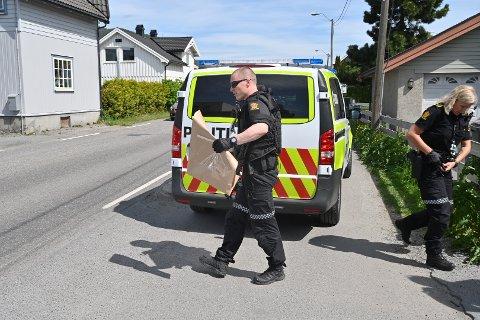 BESLAG: Et skytevåpen ble beslaglagt av politiet i forbindelse med aksjonen.