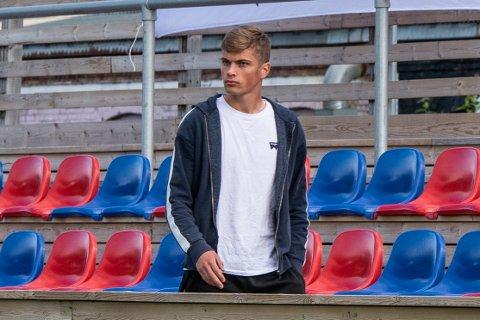 Inn portene i Framparken: Adrian Hansen kommer til Fram på lån fra Mjøndalen. 19-åringen skal bidra til at Fram ikke gjentar den svake defefensive prestasjonen laget hadde mot Sotra i serieåpningen for en uke siden.