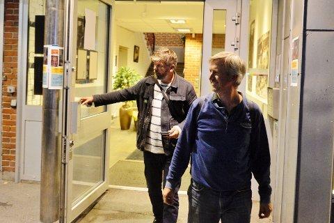 MDG-POLITIKERE: Thorbjørn Faber Geirbo (t.h.) er styreleder, mens Ståle Sørensen i en årrekke har vært gruppeleder i Drammen MDG. Til høsten kommer Cathrin Janøy til å fungere i den sistnevnte rollen.