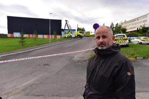 KUNNE ENDT ILLE: Rektoren er glad hendelsen skjedde i skoletiden. Han forsikrer alle foreldre om at barna et trygge.