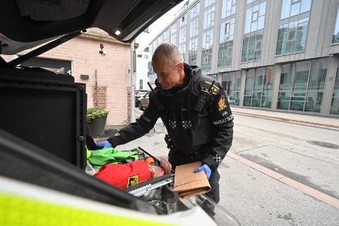 BESLAG: Politiet fant en betydelig mengde narkotika under politiaksjonen.