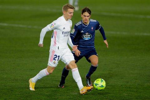 Martin Ødegaard har slitt med å få spilletid i Real Madrid denne sesongen.