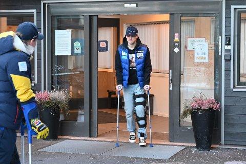Tirsdag var det pressetreff med Lucas Braathen. Han er i gang med en opptreningsperiode etter det stygge fallet i Adelboden tidligere i januar.