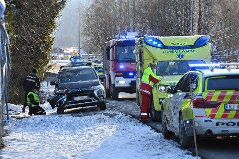 KRASJET: Fire personer var involvert i ulykken.