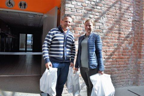 Mario og Anneline Corino var blant de som kjøpte fra vareutsalget til Union Scene i mai 2020. Nå åpnes det på ny for utsalg på samme sted.