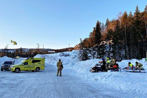 I forrige uke ble en skiløper fløyet til sykehus etter en ulykke i skiløypa. Denne uka skadet nok en skiløper seg i samme område.