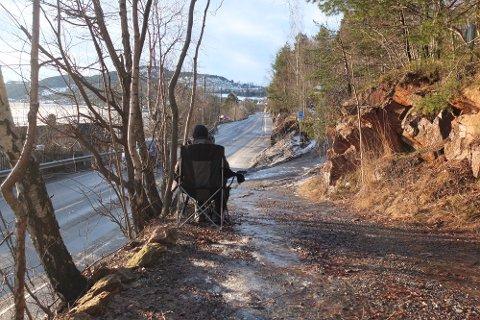 LASERKONTROLL: UP avholdt fredag fartskontroll på Svelvikveien.