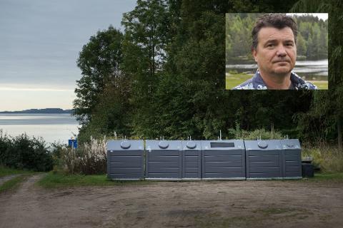 NYTT RENOVASJONSGEBYR: Høsten 2021 vil hytteeiere i området rundt Landfalltjern få en faktura med lavere renovasjonsgebyr enn tidligere. Dette er leder av Drammensmarkas hytteeierforening, Kai Ekstrøm, fornøyd med.