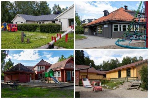 Rådmannen vil legge ned disse fire barnehagene.