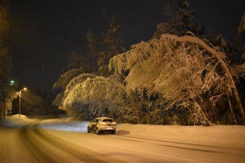 Det er ventet snø i Drammen de neste dagene. Bildet er tatt i januar, øverst i Konnerudbakkene.