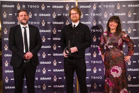VANT: Frode Bjørnstad (t.v.) , John Arne Ø. Gundersen og Anne Mette Hårdnes utgjør bandet Sweetheart, og fredag kunne de juble for Spellemannprisen.