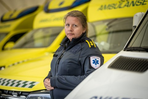 AMBULANSE: Utstyr fra både ambulansen og legebilen ble forsøkt stjålet mandag morgen, forteller stasjonsleder Ranveig Menes Trætnes ved ambulanseavdelingen i Drammen.