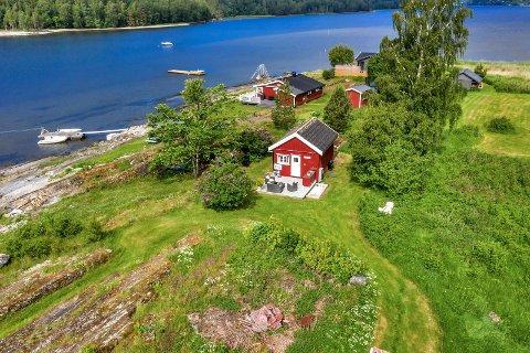 Den lille hytta på Killingholmen er nå til salgs.