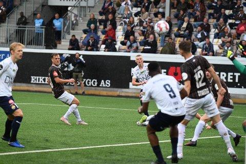 UAVGJORT: Det endte 1-1 da Mjøndalen tok i mot Strømsgodset hjemme søndag.