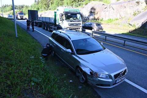 Sjåføren som traff autovernet har akseptert bruken av dette bildet fra stedet.