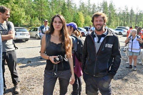 VILLE VÆRE MED: Francesca Impallomeni (25) fra Italia og Dionisio Mediola (26) fra Spania ville med med på letingen etter meteoritten.