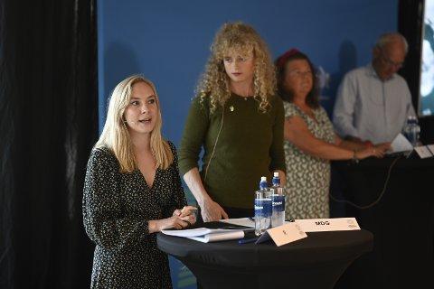 ØKE SKATTENE: Både Linn-Elise Mehlen fra Rødt (t.v.) og Kathy Lie fra SV (t.v) var tydelige på at de vil øke skattene for alle som tjerner mer enn 600.000 kroner for å få råd til ordninger som gratis SFO og billigere tannhelse.