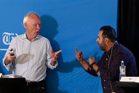 Per Olaf Lundteigen (Sp) og Masud Gharahkhani (Ap) barket sammen i diskusjon om oppløsning av Viken.