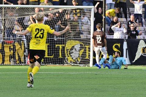 TAP: Mjøndalen måtte se seg slått av Lillestrøm lørdag. Matchen endte 1-2 til gjestene.