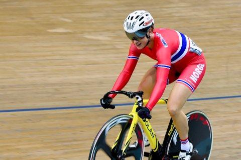 FØLER SEG KLAR: Treningen har gått som planlagt og banesyklisten fra Drammen er klar for OL i Tokyo.