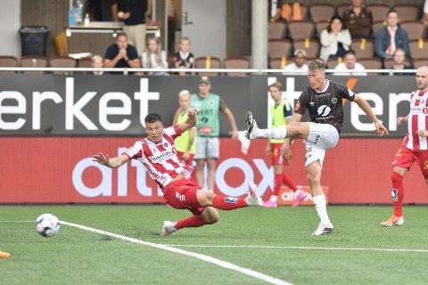 Kent Håvard Eriksen fikk en drømmestart på perioden i Mjøndalen da han scoret 2-2-målet mot Tromsø.