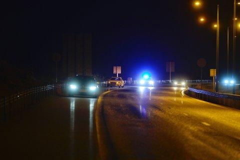 Det var nedsatt hastighet på stedet etter at fire biler punkterte på kort tid.