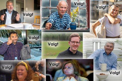 Dette er gjengen som skal representere oss alle. (Øverst f.v.) Morten Wold (Frp), Per Olaf Lundteigen (Sp), Sandra Bruflot (H), Masud Gharahkhani (Ap), Even A. Røed (Ap), Trond Helleland (H), Kathy Lie (SV) og Lise Christoffersen (Ap).
