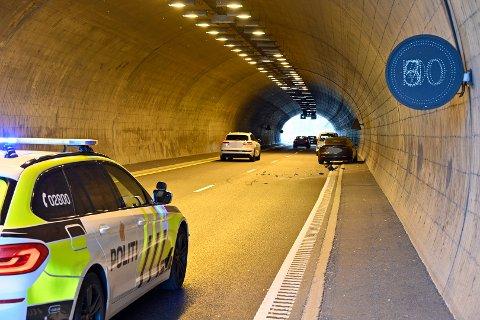 Ulykken har skjedd inn i Bjørgetunnelen.
